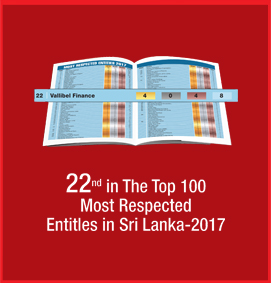 22nd in the Top 10 Most Respected Entitles in Sri Lanka 2017